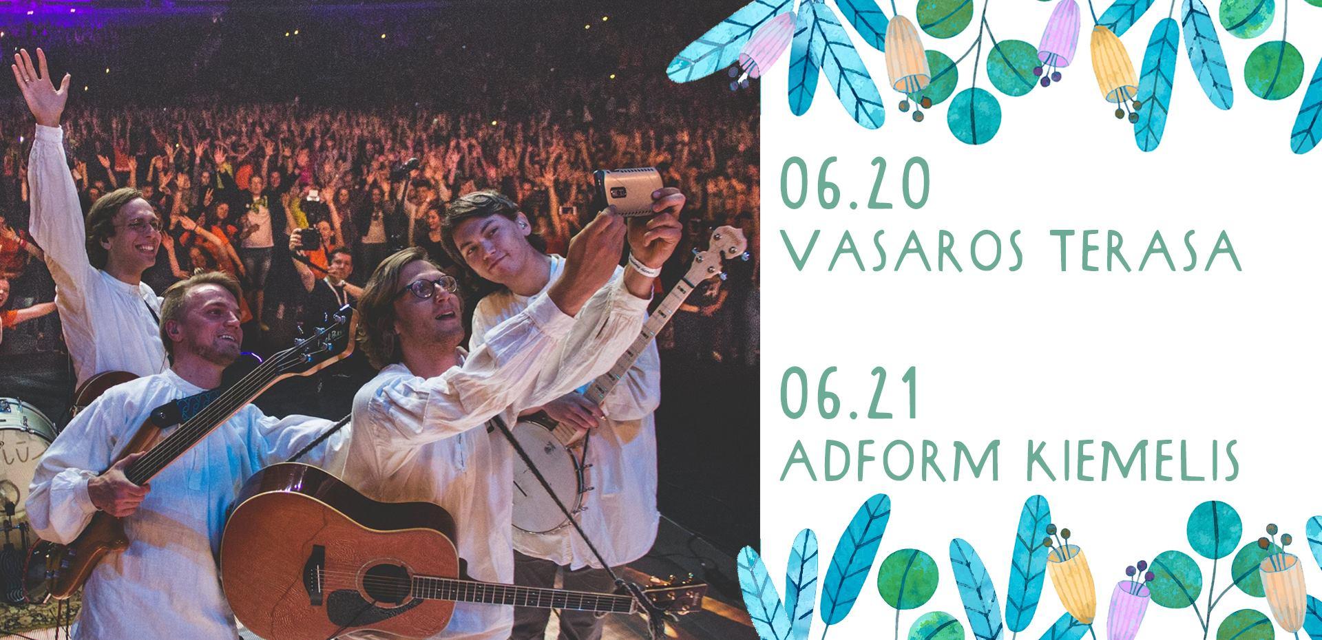 Kūjeliai koncertai Vasaros terasa Adform kiemelis