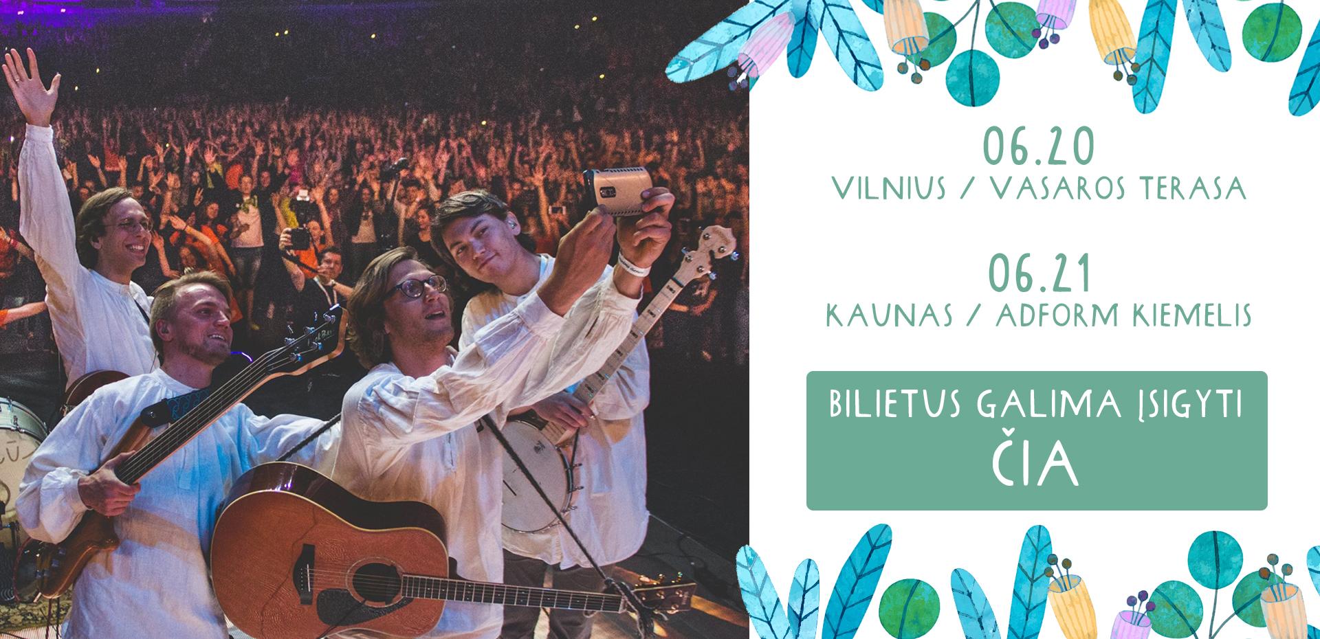 Kūjeliai koncertas Vilnius Kaunas